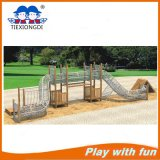 New Design Wooden Climbing and Swing Children Playground System