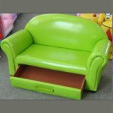 Green Color Double Seats Leather Sofa/Chair with Drawer (SXBB-15-02)