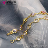 Xuping Fashion 14k Gold Color Synthetic CZ Bracelet (73588)