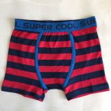 High Quality Kids Underwear Striped Red Boy Boxer Short