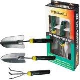 3PCS Garden Tools Set Including Hand Trowel, Transplanter, Cultivator, Shovel, Spade