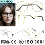 Unsex Fashion Brand Name Large Round Optical Glasses with Stainless Material
