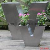 High Quality Custom Stainless Steel Flower Pot Brush Finish Floor Type