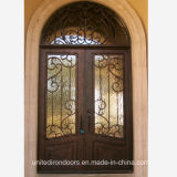 High Quality Hand Forged Wrought Iron Entry Door (UID-D022)