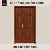 Unequal Double Door Wooden Fire Door Hard Wood Entry Door