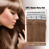 #10 Medium Golden Brown Tape Hair Extension