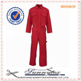 Poly Cotton Safety Coverall Used for Industrial Workwear Men Coverall