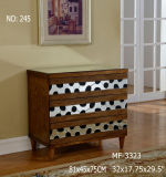 Dark Timber Wood Color 3 Drawer Cabinet