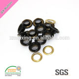8mm Black Color Paint Brass Mesh Grommet Eyelet
