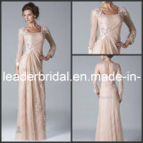 Long Sleeves Mother of The Bride Dress Fashion Lace Party Evening Dress E142