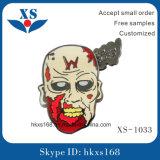 Custom Flower Skull Metal Lapel Pin Badge
