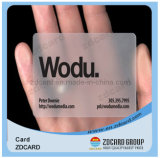 Plastic M1 Classic RFID Transparent Business Card with FM4428