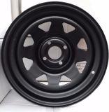 14X6 Triangular Black Trailer Wheel 4-100