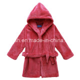 Coral Velvet Hooded Robe Infant Pajamas Children Sleepwear