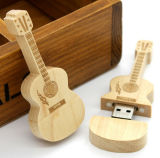 Guitar Shape Wooden USB Flash Memory