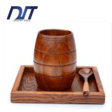 Creative Vintage Solid Tonneau Shaped Wood Beer Mug