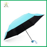 Promotion Fashion Ladies Gift Bag Size Packet Compact Aluminium Small 5 Fold Super Mini Umbrella in Case