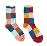 Women′s Cotton Crew Socks (WA031)