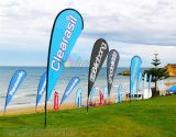 Custom high quality Durable Digital Print Beach Flag Banner Pole