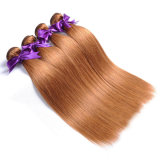 Honey Blonde Brazilian Straight Hair Color 30 100% Human Hair Weave Bundles 1 PC Non-Remy 10""