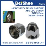 33mm Chrome ABS Plastic Lug Nut Covers for Truck