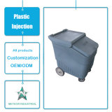 Customized Plastic Trash Can Garbage Basket Mold Plastic Injection Tool