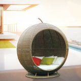 Spherical Dome Sunshine Lounge Beach Circular Garden Furniture Rattan Sun Daybed &T683