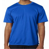 Shiny Blue T-Shirt Cotton Fabric