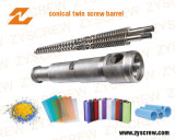 Extrusion Equipment Parts Conical Double Screw and Barrel