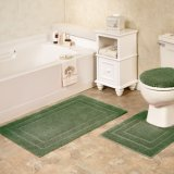 3 Pieces/PCS Bath Bathroom Shower Bathtub Toilet Rugs Carpets Door Floor Mats Sets