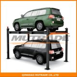 Four Post Vehicle Parking Lift Car Stacking for 2 Suvs