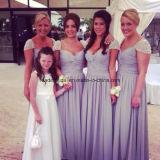 Portrait Prom Party Gowns Lavender Evening Bridesmaid Dresses Z805