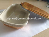 Gold Coating Aluminum Foil Container for Airline