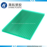 UV Coated Green Polycarbonate Plastic Hollow Panel by Lexan