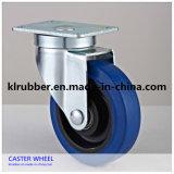 Blue Elastic Rubber Swivel Caster Wheel