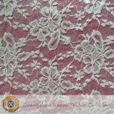 Embroidered White Lace Fabric for Curtains (M0515)