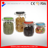 Wholesale Sealable Jam Customized Storage Glass Jar with Clip Lid