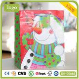 Paper Bag, Christmas Happy Snowman Paper Bag, Gift Paper Bag