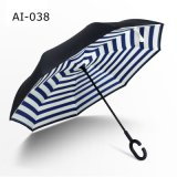 2017 New Item Portable Handsfree Straight Reverse Inverted Promotional Cars Umbrella