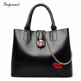 Ladies Tote Bag Cheap Bag Easiest for Match PU Leather Handbag