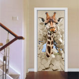 Decorative 3D Door Wallpaper Murals Wall Stickers for Home Decoration Retro Art Door Decals
