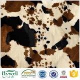 Cow Print Velboa Plush Faux Fur Fabric for Cushion