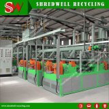 High-Performance Whole Waste Tire Shredding Plant Obtaining 30-120mesh Rubber Powder