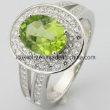 925 Sterling Silver Ring Jewelry with Crystal