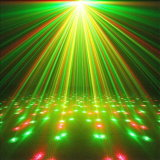 Two Colors Sound Christmas Green Laser Stage Lighting
