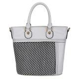 Newest Contrast Color Wholesale PU Lady Bag (MBLX033134)