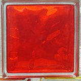 China red inner colored glass brick china hollow glass for Hollow glass blocks for crafts