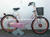 """Pink Beautiful 26"""" Female Bicycle with Colorful Rim (SH-CB037)"""