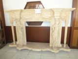 Beautiful Marble Fireplace Sculpture (YS-FP-001)