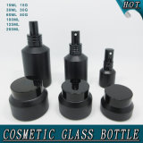 Guangzhou Cosmetic Glass Bottle Packaging Matt Black Slant Shoulder Glass Spray Bottles Cream Jars